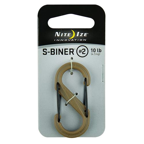 Nite Ize S-Biner Plastique Size-4 Double-gated Mousqueton, SBP2-03-28BG