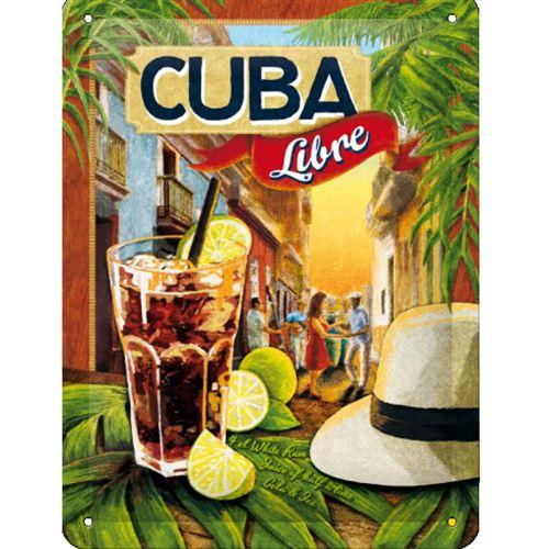 Plaque métallique Cuba