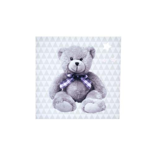 Domiva Toile Lumineuse Little Bear - Scintillante - 30 X 30 Cm