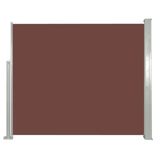 vidaXL Auvent latéral rétractable 120 x 300 cm Marron