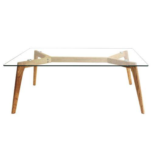 Verane - Table Basse Rectangulaire Plateau Verre