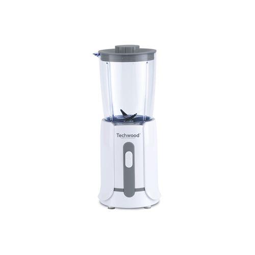 Mini Blender 500 Ml Blanc/gris Techwood - Tbl-201