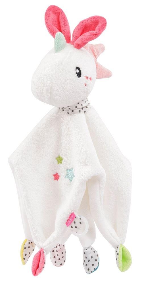 Fehn Aiko & Yuki couverture câline licorne 30 cm blanc