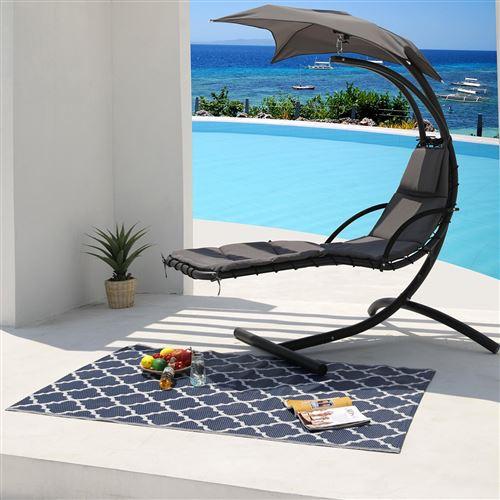 tapis d'extérieur/intérieur réversible 180x120cm - fes120cm