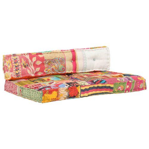 Chunhe Coussin de canapé palette Multicolore Tissu Patchwork AB287717