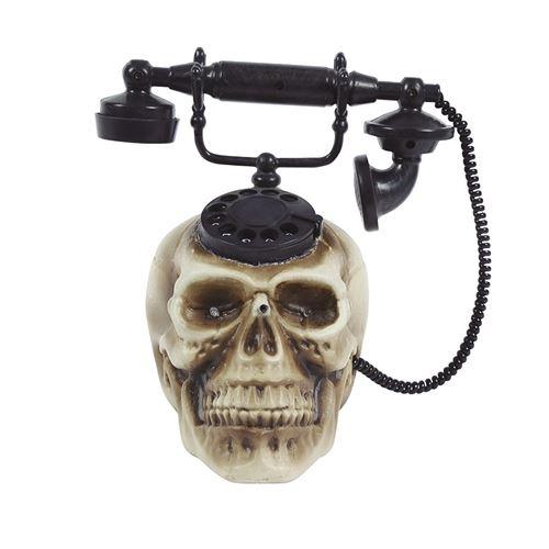 téléphone crâne 22 x 25 cm