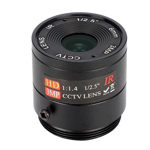 Objectif Focale Fixe 6 mm 3MP Pour Caméra CCTV de Sécurité Surveillance