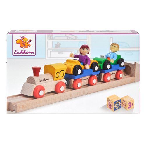 Train de voitures en bois Eichhorn