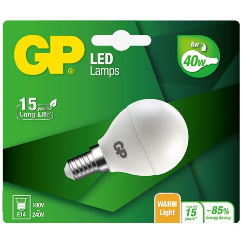 GP éclairage GP Led Mini Globe Bl 6w E14