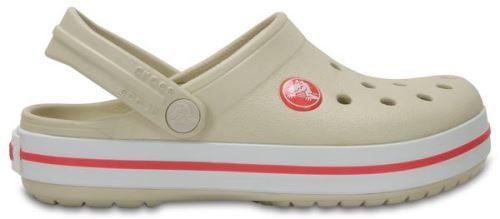 Crocs crocband enfants sabots <strong>chaussures</strong> sandales en stucco beige rouge melon 204537 1as