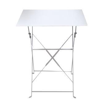 Table De Jardin Pliante Coloris Blanc - Dim : 110 X 70 X 71 Cm -Pegane-