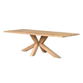 Table en teck recyclé 250 cm Conceptual - Mobilier de Jardin ...