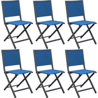 Proloisirs Chaises pliantes en aluminium Ida (Lot de 6