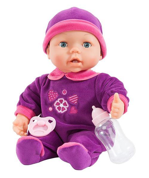 Bayer poupée avec des accessoires Magic Teeth 38 cm violet / rose trois pièces