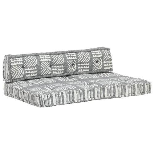 Chunhe Coussin de canapé palette Gris Tissu Patchwork AB287718