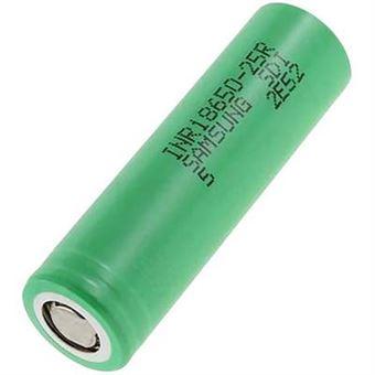Pile rechargeable spéciale 18650 résiste aux courants élevés, résiste aux  températures élevées Li-Ion Samsung NR18650-25R 3.6 V 2500 mAh -  Équipements électriques - Achat & prix | fnac