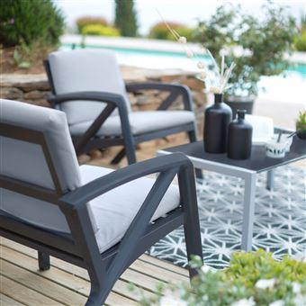 Salon de jardin lounge sunday barcelone design grosfillex - Mobilier ...