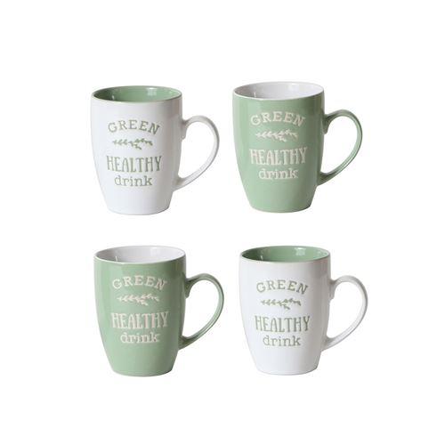 4 Mug Litlle Market - 250 ml - Vert d'eau