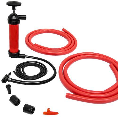 Pompe à main multifonctionnelle pour Gonfler / Aspirer air et liquides pour Vider Transférer ess
