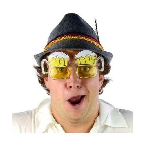 Lunettes de déguisement en forme de chope de bière - Accessoire carnaval soirée à theme déguisée humour