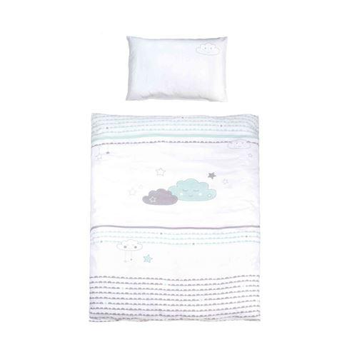 Parure de lit bébé Happy cloud 100x135 cm
