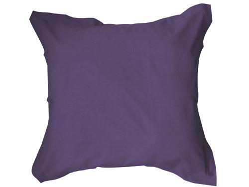 Taie oreiller 100% coton 57 fils coloris deep purple 75x75