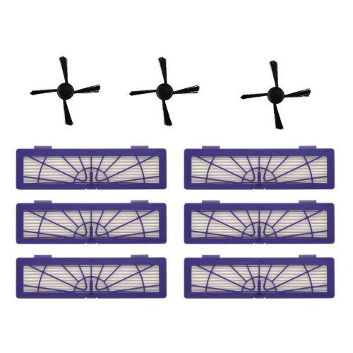 Filtre 6PC + 3PC brosses latérales remplacement pour Neato Botvac 70e 75 80 85