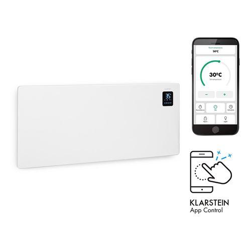Klarstein Bansin Smart 2500 - Radiateur à convection connecté 2500W , pour 50 m² , thermostat, contrôle par application - Blanc