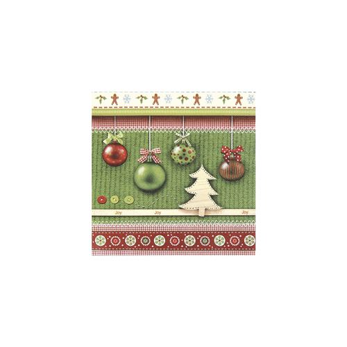 Serviettes joy christmas 33cm - rayher