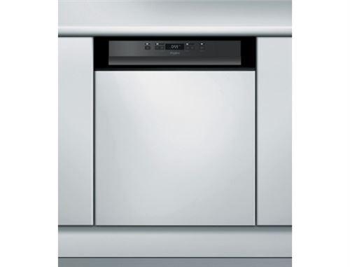Whirlpool WBC3C26B - Lave-vaisselle - intégrable - Niche - largeur : 60 cm - profondeur : 57 cm - hauteur : 82 cm - noir