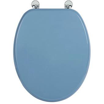 25 Sur Abattant De Toilette Bleu En Bois Compresse Mdf Charniere