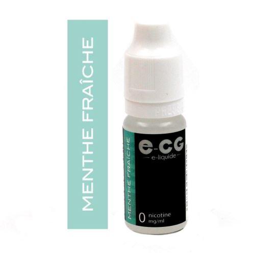 E-liquide E-CG - Menthe Fraîche 0 mg/ml