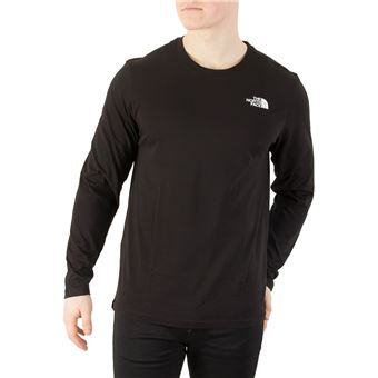 North Manches Homme Face À T Shirt Facile UtiliserNoir Longues The LpqzGSjUVM
