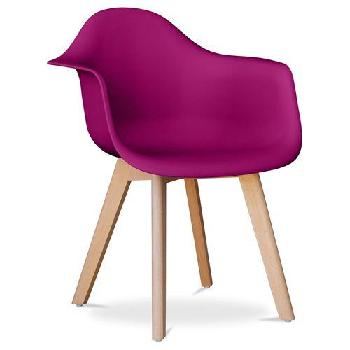 Myfaktory - Chaise design Coque - polypropylène mauve