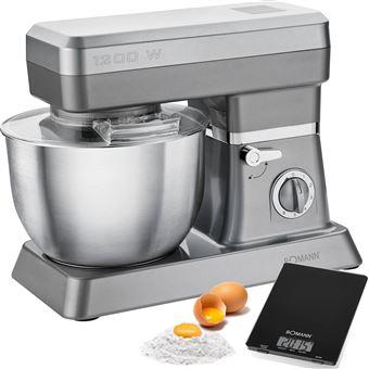Bomann Keukenmachine 1200 W titanium en zilver KM 398 CB