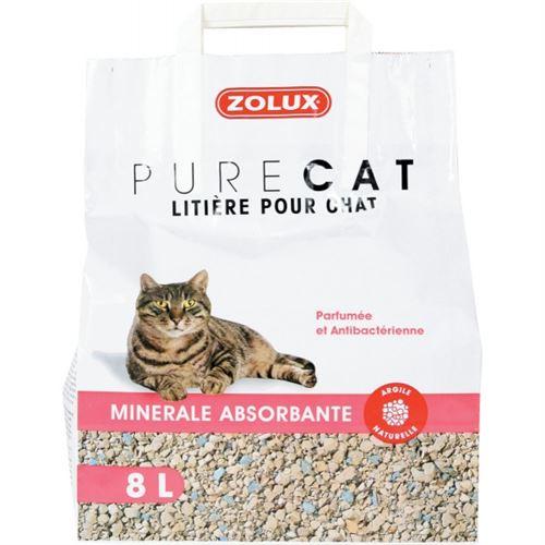 Litière Pure Cat - Minérale Absorbante - 8L