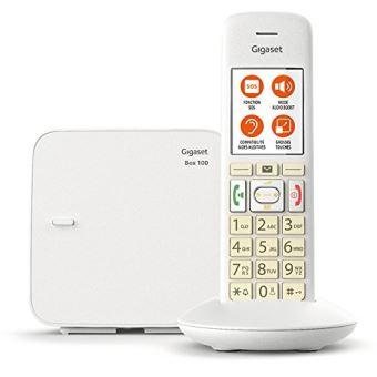Téléphone fixe sans fil Gigaset E370 Solo Blanc