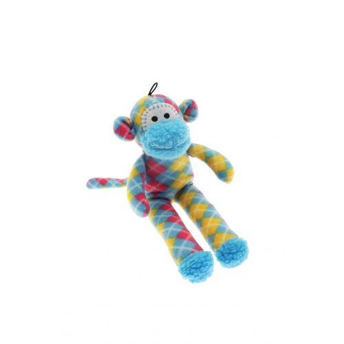 Happy Pet - Jouet singe pour chiens (31 x 13 x 6cm) (Multicolore) - UTBT867
