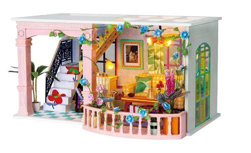 Robotime kit de construction d'une maison de poupée de 23 cm en bois/textile 3 pièces
