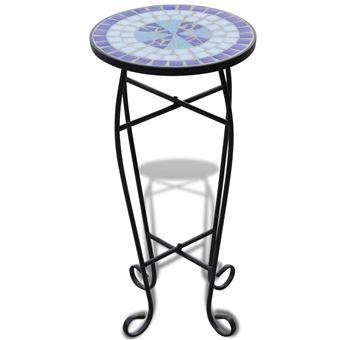 Table d\'appoint Mosaïque Bleu et Blanc - Mobilier de Jardin - Achat ...