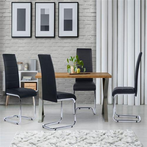 Lot de 4 chaises MIA noires pour salle à manger