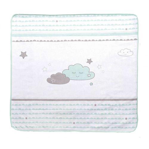 Couverture bébé velours Happy cloud 80x80 cm
