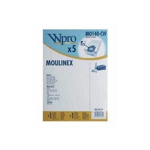 Sachet de sacs w51 pour aspirateur moulinex - 481281729673