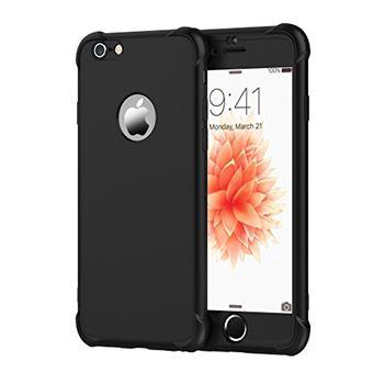 ORETECH Coque iPhone 6 6S avec 2 Pieces Protecteur D ecran en Verre Trempe iPhone 6 6S Houe Hybride Robuste 2 en 1 Antichoc Ultra Mince Mat Anti Rayures PC TPU pour iPhone 6 6S Case 4 7 Noir