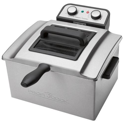 ProfiCook PC-FR 1038 - friteuse - inox/noir