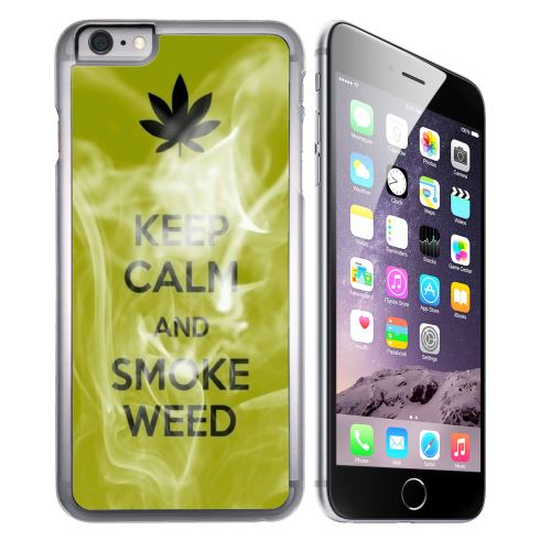 Coque pour iPhone 8 PLUS keep calm smoke weed