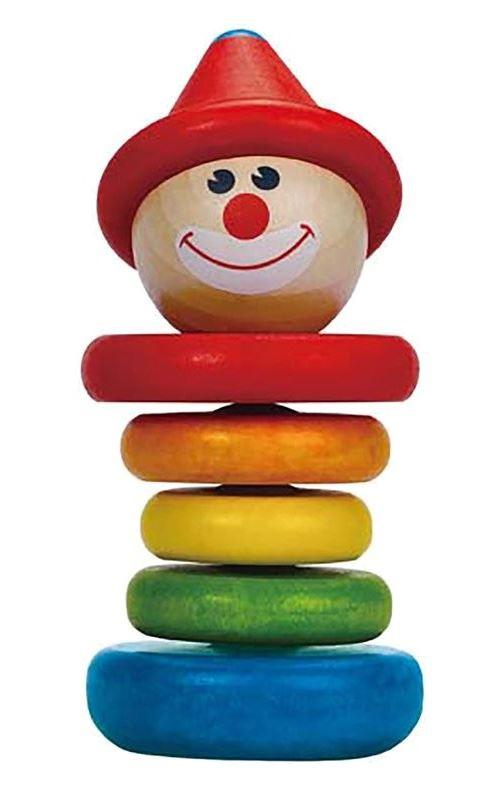 Hape hochet en bois Happy Clown 6 pièces multicolore