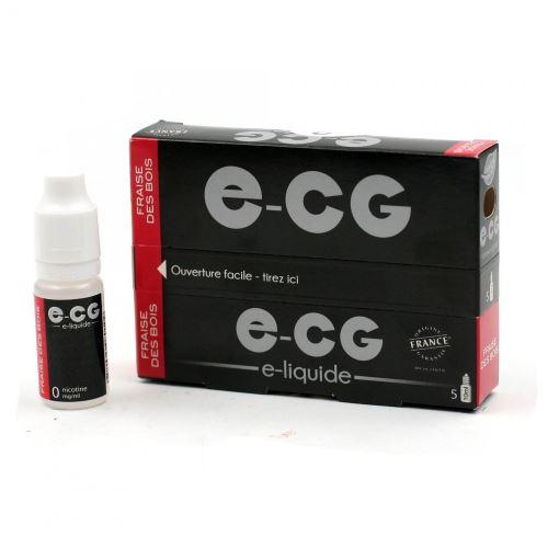 Lot de 5 Flacons E-CG - Fraise des Bois 0 mg/ml