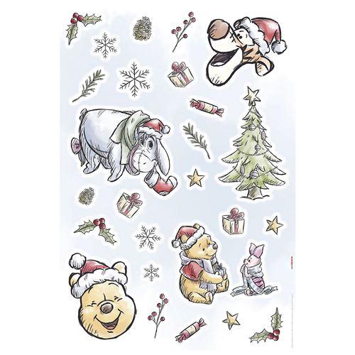 Stickers Muraux Disney Winnie l'Ourson Noël Winnie Pooh Christmas
