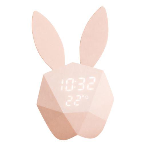 Modèle Rabbit Réveil Intelligent Control Voice Usb de Charge Petite Lumière Pk Rose PL487